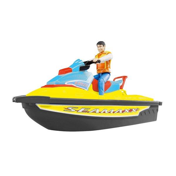 Bruder 90425 - Waterscooter met bestuurder geel/zwart
