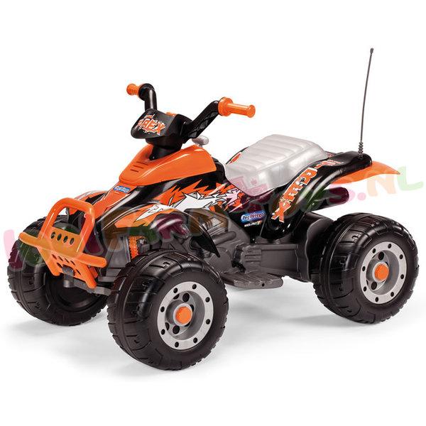 Peg Perego Corral T-Rex black oranje 12 volt quad