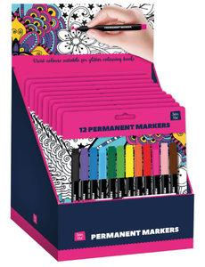 Heldere permanent markers, voor glitterkleurboeken