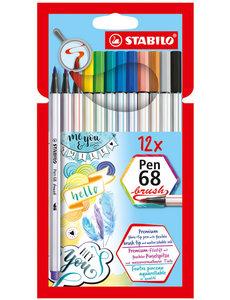 Stabilo Stabilo 12 pen 68 brush in etui