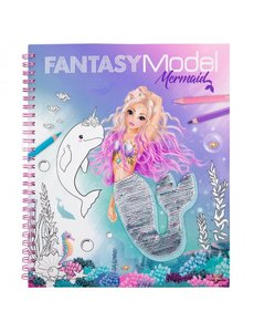 Depesche Fantasy Model kleurboek met pailletten mermaid