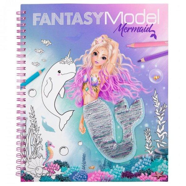 Depesche Fantasy Model Kleurboek met pailletten Mermaid
