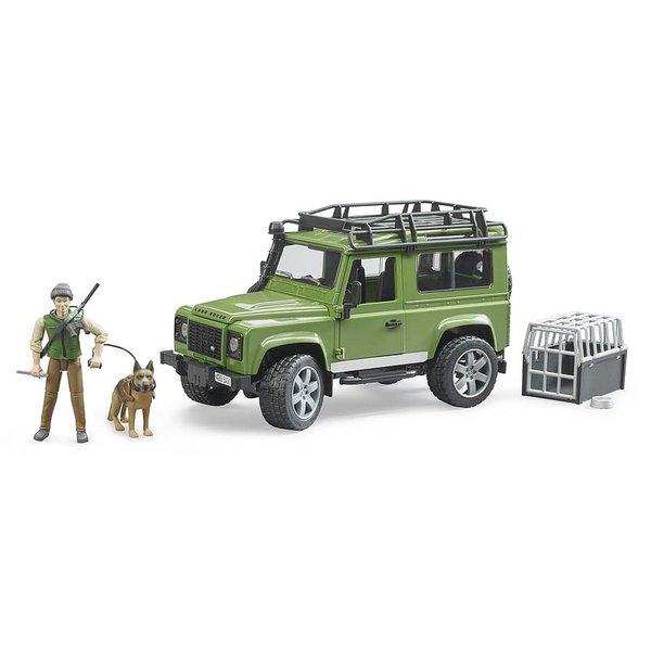 Bruder 2587 - Land Rover Defender Station Wagon met boswachter en hond