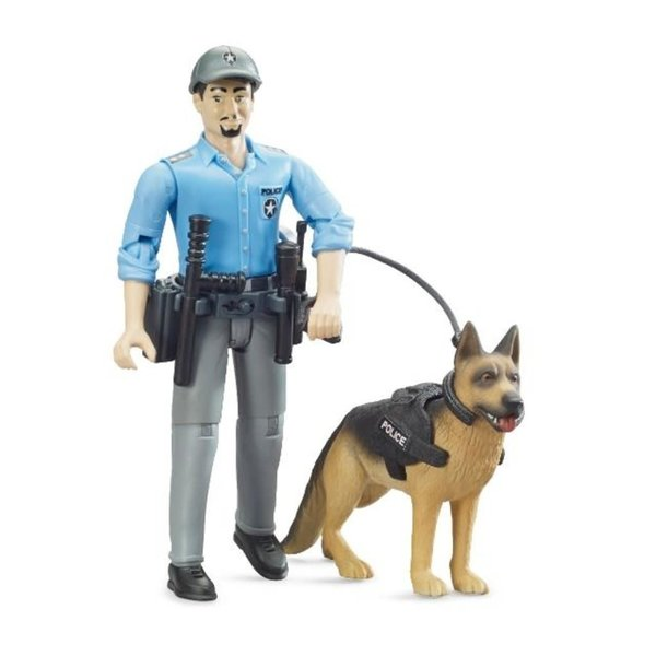 Bruder 62150 - Politie speelfiguur met hond