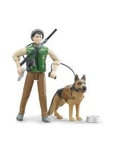Bruder 62660 - Boswachter met hond