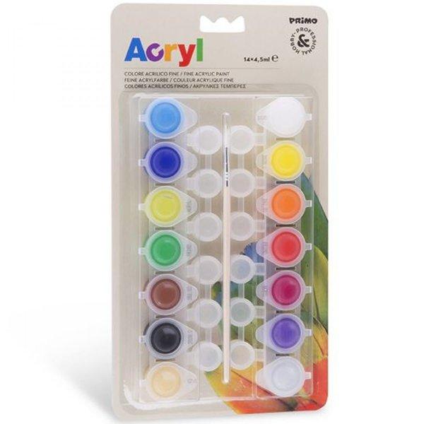 Primo Pro Acrylverf, 14 kleuren