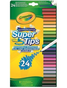 Crayola Viltstiften met superpunt, 24 stuks
