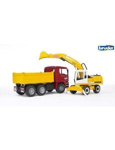 Bruder 2751 - MAN vrachtwagen met Liebherr kraan