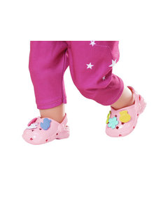 Zapf Creation Crocs met pins zalmroze