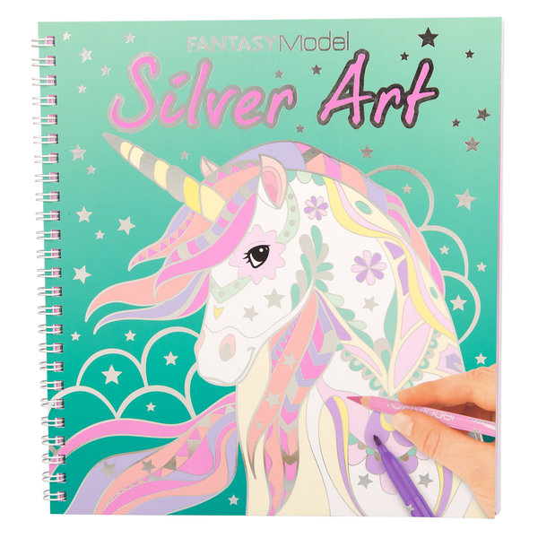 Depesche Colouring book zilver art