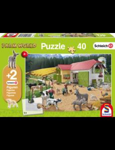 Boerderij puzzel Schleich, 40 stukjes
