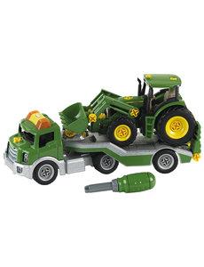 Klein 3908 - Dieplader met John Deere tractor
