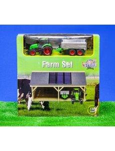 610048 - Loods met tractorset  1:50
