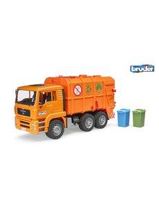 Bruder 2760 - MAN vuilniswagen oranje