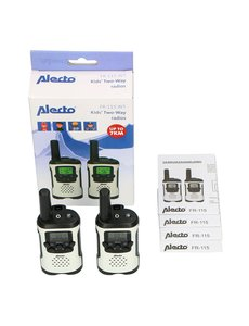 Alecto Walkie Talkie 7 km Twinset wit-zwart