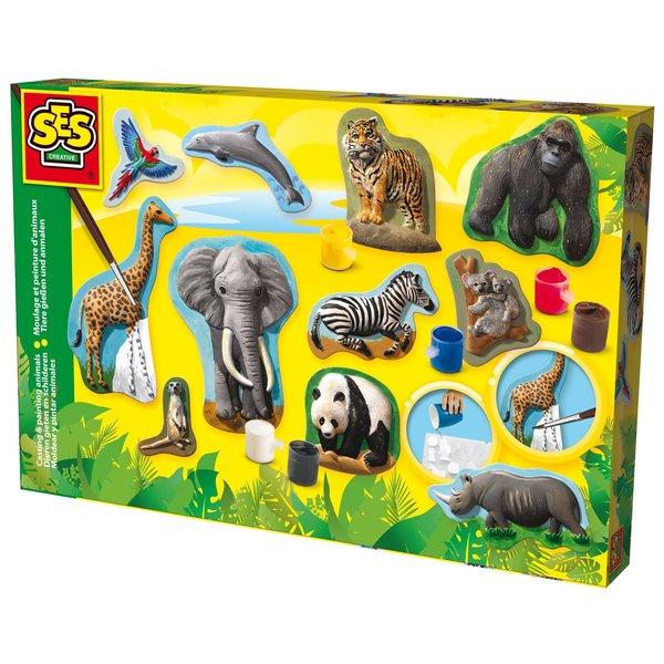SES Gips gieten en schilderen wilde dieren