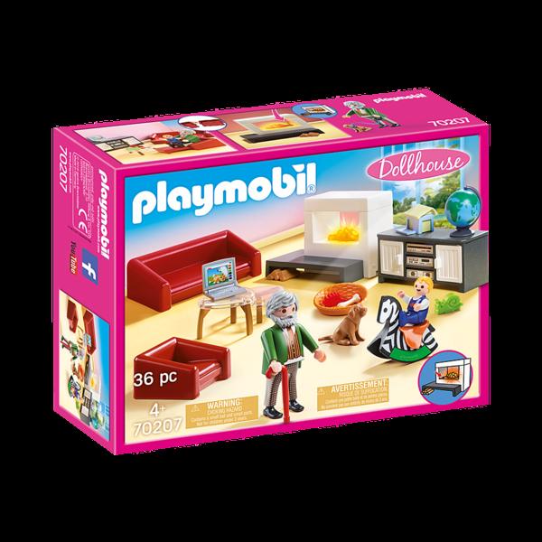 Playmobil 70207 - Huiskamer met open haard