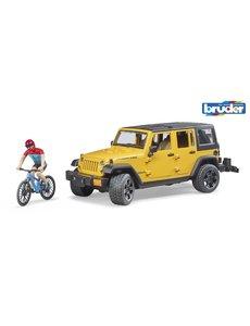 Bruder 2543 - Jeep Wrangler Rubicon Unlimited met mountainbiker