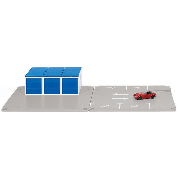 Siku 5589 - Garage en parkeerplaats met Wiesman MF 5 Cabrio