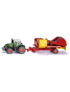 Siku 1808 - Fendt tractor met aardappelrooier