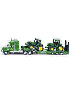 Siku 1837 - Dieplader met John Deere tractoren