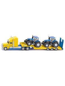 Siku 1805 - Dieplader met New Holland tractors