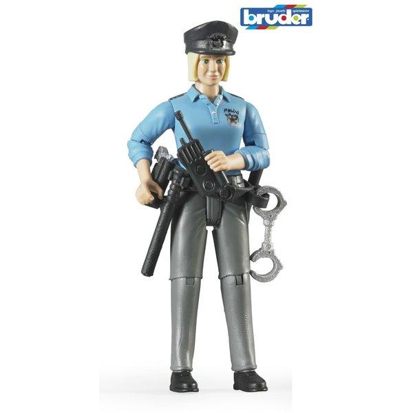 Bruder 60430 - Speelfiguur: Politieagente, vrouw, blank met toebehoren