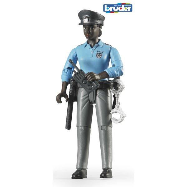 Bruder 60431 - Speelfiguur: Politieagente, vrouw, donker met toebehoren