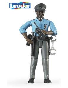 Bruder 60051 - Speelfiguur: Politieagent, man, donker, met toebehoren
