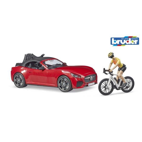 Bruder 3485 - Roadster met wielrenster