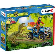 Schleich Vlucht van Velociraptor op Quad- 41466