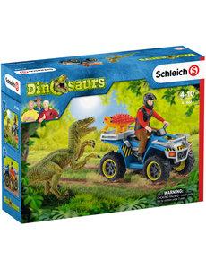 Schleich 41466 - Vlucht van Velociraptor op Quad