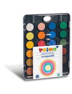 Primo Waterverf tablet/penseel -24 kleuren