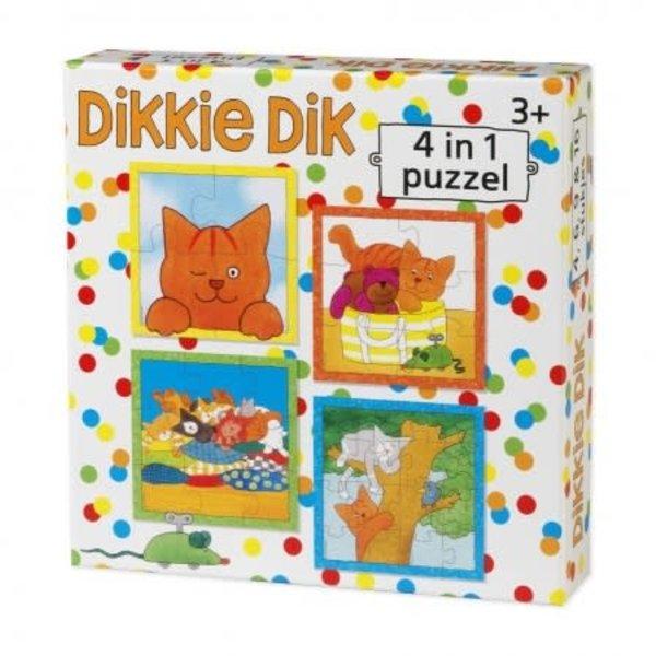 Dikkie Dik 4 in 1 puzzel, (4 + 6 + 9 + 16)