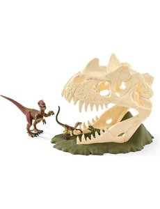 Schleich 42348 - Grote schedelvalstrik  met Velociraptor