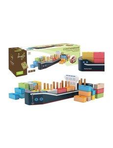 Jouéco Schip met containers