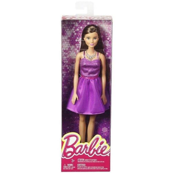 Barbie Barbie pop met paarse jurk