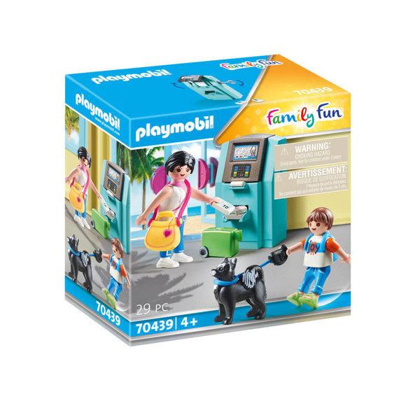 Playmobil 70439 - Vakantiegangers met geldautomaat