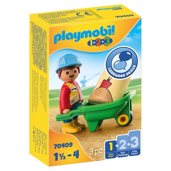 Playmobil 70409 - Bouwvakker met kruiwagen