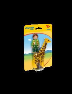Playmobil 9380 - Dierenverzorger met giraf