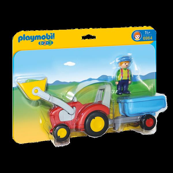 Playmobil 6964 - Boer met tractor en aanhangwagen