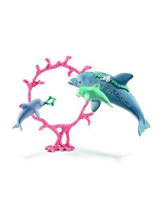 Schleich 41463 - Dolfijnen moeder met baby