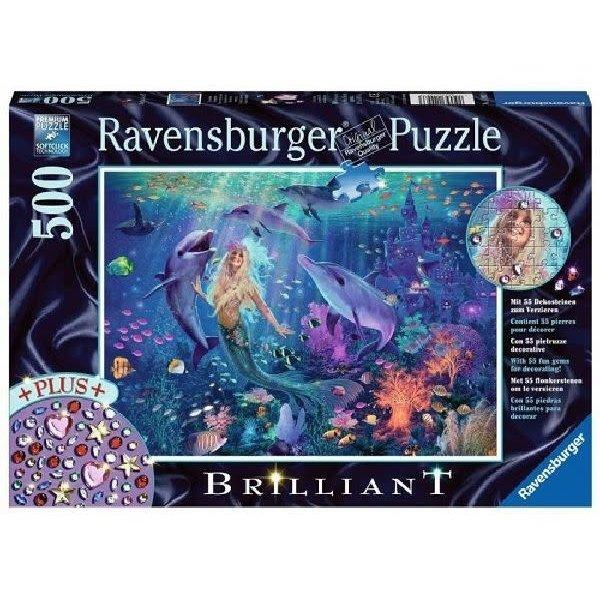 Ravensburger Betoverende zeemeermin met briljanten, 500 stukjes