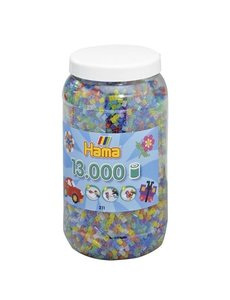 Hama Strijkkralen in pot, glitter - 13000 st.