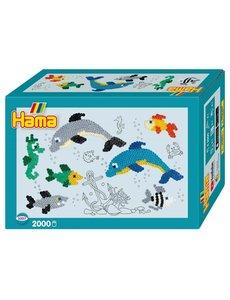 Hama Strijkkralen dolfijnen, 2000 dlg