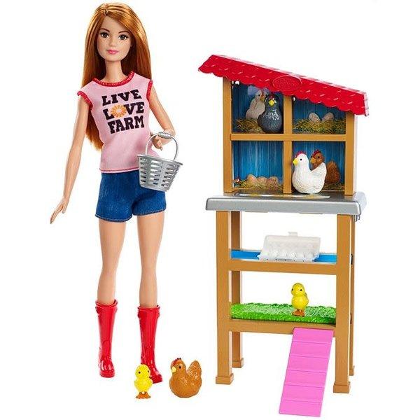 Barbie kippenhok met kippen