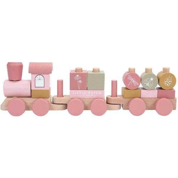 Little Dutch Blokkentrein roze