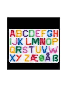 Hama Strijkkralen grondplaat letters