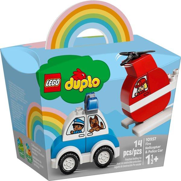 LEGO 10957 - Brandweerhelikopter en politiewagen