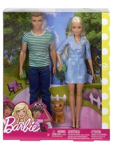 Barbie Barbie en Ken met hond
